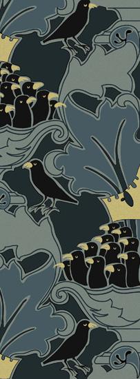 Art Deco Bird Design Repeat